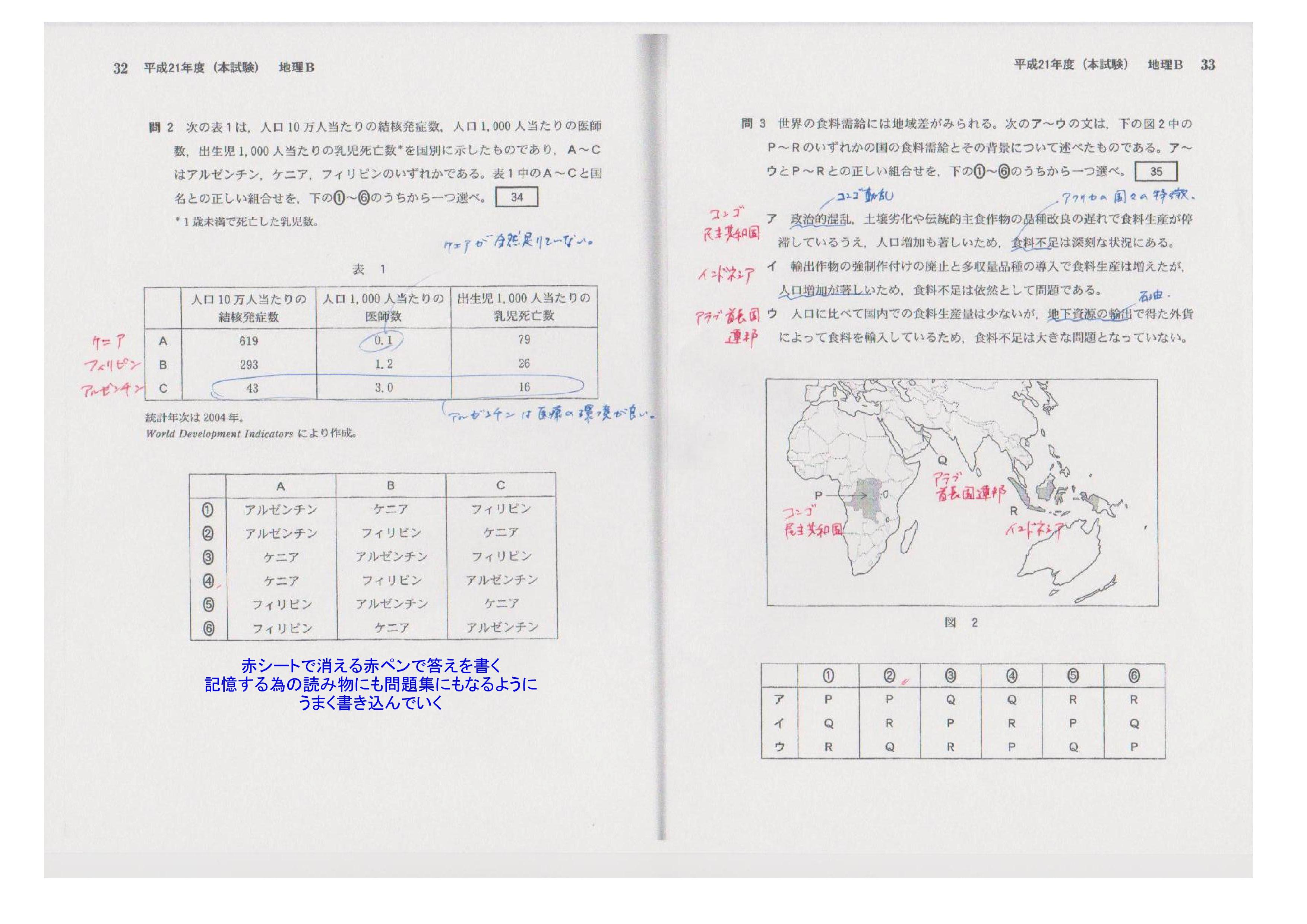 模擬試験復習サンプルファイル地理
